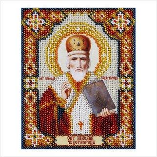 Set für Perlenstickerei Leinwand,St.Nicholas the Wonderworker 10 cm.x12 cm., 0553