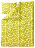 Finlayson Bettbezug-Set mit Kissenbezug mit Elefantenmotiven, Baumwolle, Gelb, 150x 210cm