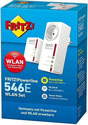 AVM FRITZ!Powerline 546E / 510E WLAN Set /  (500 MBit/s, WLAN-Access Point, Fast-Ethernet-LAN, intelligente Steckdose) - 3