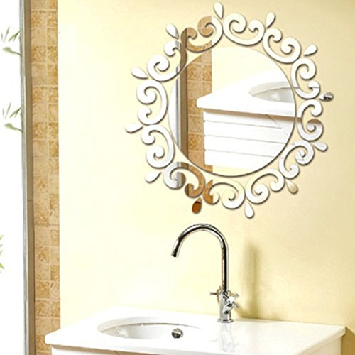 Goldencart 3d Acrylic Sparkly Mirror Wall Sticker For Decorating