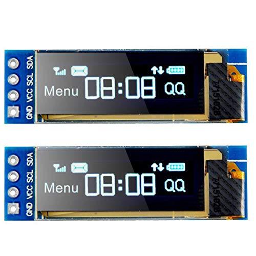 MakerHawk 2pcs I2C OLED Módulo de la exhibición de I2C SSD1306 OLED Módulo de la Pantalla Azul I2C OLED 3.3V ~ 5V del regulador de la Pantalla para Arduino