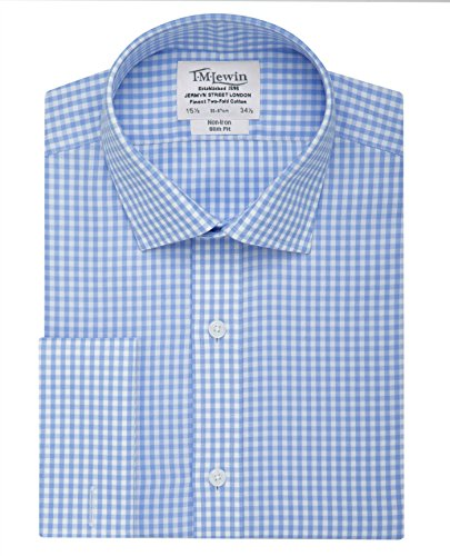 tmlewin-mens-non-iron-gingham-slim-fit-double-cuff-shirt-blue-15