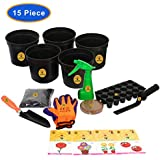 "[Sponsored]KRAFT SEEDS BEST FIVE FLOWER SEEDS FOR HOME GARDEN WITH ONE PAIR HAND GLOVES FOR YOUR GARDEN, 2 GARDENING TOOLS ONE GARDEN TROWEL, ONE KHURPI FOR SMALL POTS AND BLOCK POT/PLANTER 3"" (SET OF 5pcs.), WITH ORGANIC MANURE & KRAFT AGRO PEA"