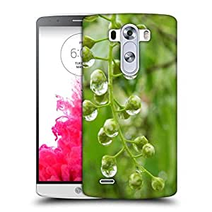 Snoogg Green Spring Tree Raindrops Designer Protective Phone Back Case Cover For LG G3