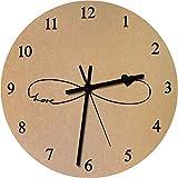275mm 'Símbolo del Amor del Infinito' Reloj de Pared Grande de MDF (CK00010437)