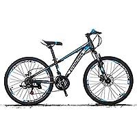 XYANG BK - Bicicleta de montaña de 21 velocidades, ruedas de 24 pulgadas, plegable