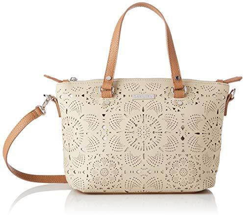 Desigual Bag Cronos Gela Women - Borse a tracolla Donna, Bianco (Crudo), 10.5x22x25 cm (B x H T)