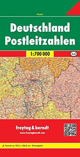 Freytag Berndt Poster, Deutschland Postleitzahlen - Maßstab 1:700.000