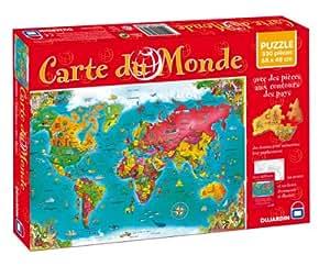 Dujardin - 56026 - Jeu de plateau - Puzzle 500 Piéces Carte Du Monde