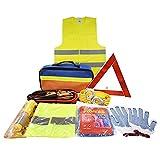 Kits de Emergencia con Jumper Cables, cuerda de remolque, triángulo de seguridad, linterna, ventana martillo