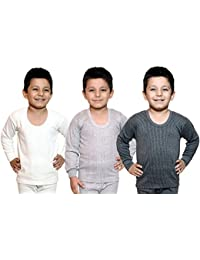 Bodysense Multicolor Thermal Top for Boys & Girls (Pack of 3 Tops)