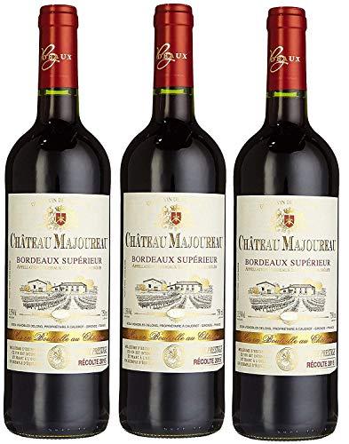 Château Majoureau Bordeaux Supérieur AOC Merlot 2015/2016 Trocken (3 x 0.75 l)