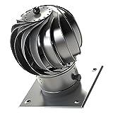 Hochwertiger Edelstahl rotierenden Spinnlüftungsschornsteinhaube airroxy 150mm