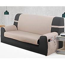 Cubre Sofá Universal Modelo MISURI, Color MARFIL C/1, Medida 1 PLAZA · 55cm