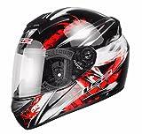 LS2FF351Wolf- Casco integrale epr motocicletta,ACU Gold, Uomo Donna, Rot, L