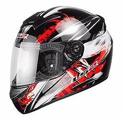 LS2 FF351 Wolf - Motorrad-Helm - Integralhelm - ACU Gold - Schwarz/Rot - M