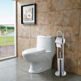 BONADE Scopini e Porta Scopini WC con Portarotolo per il tuo bagno, in Acciaio Inox Cromo