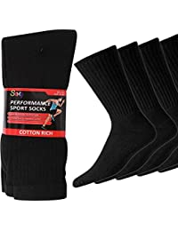 20 Pairs Mens Cotton Rich Sport Socks Work Socks Shoe Size 6-11