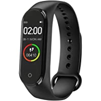 Meya Happy M4 Plus Bluetooth Wireless Smart Fitness Band for Boys/Men/Kids/Women | Sports Watch Compatible with Xiaomi, Oppo, Vivo Mobile Phone | Heart Rate and BP Monitor, Calories Counter