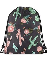 best pillow Cactus Floral Southwest Flower Cactus Design_5644 3D Print Drawstring Backpack Rucksack Shoulder Bags Gym