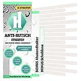 18 Anti-Rutsch-Streifen Bad + Anbringhilfe / Hygienische Badewannenmatte transparent / Antirutschmatte Dusche / Anti-Rutsch Badewanne / Mix (Lang + Kurz)