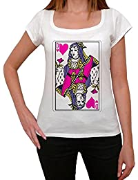 Card Game Queen of Hearts T-shirt Femme,Blanc, t shirt femme,cadeau