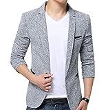 Hombres Chaquetas De Traje Y Americanas Informal Business Casual Blazer Slim Fit Gris L