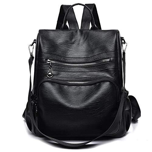 Rucksack Damen Tasche Mode Pu Leder Damen Schulter Plissee Tasche -