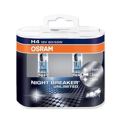 Osram Night Breaker Plus H4 + 90 Twin Duo Retail Pack -