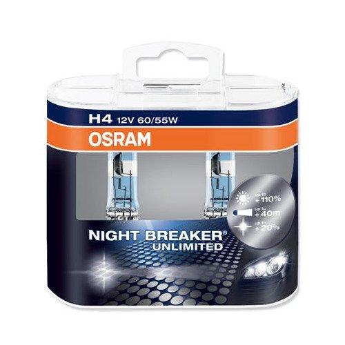 Osram Night Breaker Plus H4+ 90Twin Duo Retail Pack -