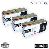 PACK 3 X CARTUCHOS DE TONER NEGROS COMPATIBLES SP201N BK PARA IMPRESORA RICOH Aficio SP 211SU