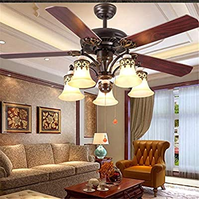 JINWELL Fan Ceiling Fan LED Ceiling Light Creative Modern with Remote Control Quietly Ceiling Fan Bedroom Lamp Kids Room Living Room Ceiling Fan with Lights Fan with Remote Control Ceiling Lighting