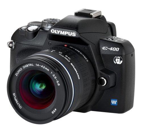 Olympus E-400 SLR-Digitalkamera (10 Megapixel) Kit inkl. Zuiko EZ-1442 14-42mm