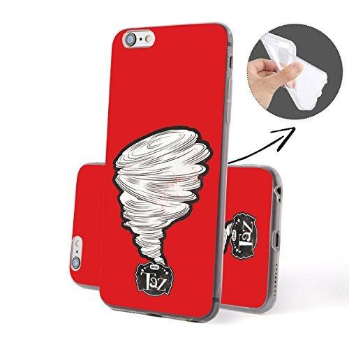 """FINOO iPhone 7 Plus Silikon Case TPU Handy-Hülle """"Taz Series"""" Motiv   dünne stoßfeste Schutz-Cover Tasche mit lizensiertem Muster   Zubehör für das Original Apple iPhone 7 Plus   Taz round 2 Tornado red"""