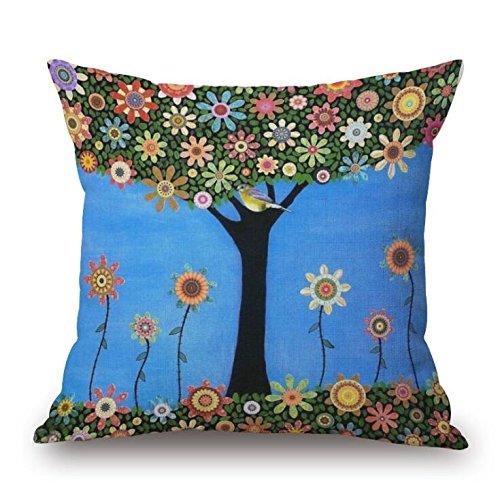 madaye-paysage-peinture-oreiller-fleurs-arbres-coussin-oreiller