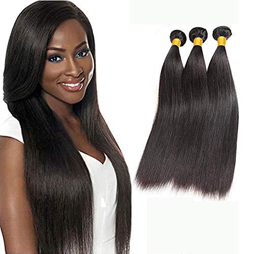 Ladiary capelli veri umani lisci 300g capelli brasiliani vergini kann essere tinti e restyling extension tessitura capelli veri naturale colorati human hair 30cm 35cm 40cm