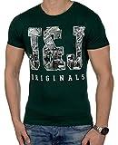 JACK & JONES Herren T-Shirt Summer-Sale Verschiedene Modelle (L, Grün (Ponderosa Pine Fit:Slim jjorTYPO))
