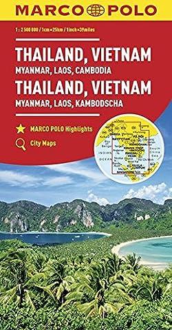 Thaïlande, Viet-nam, Birmanie, Laos, Cambodge 1 : 2 Mio