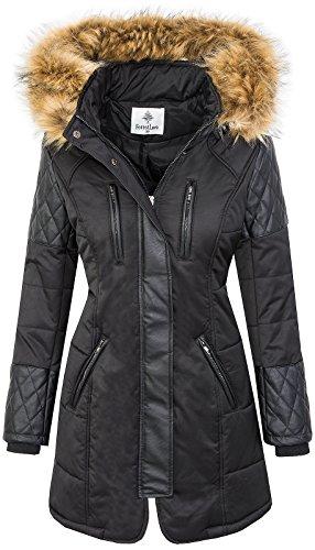 Rock Creek Selection Damen Jacke Outdoor Winterjacke D-355 [EF-1707 Black XL]