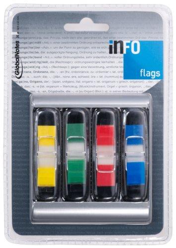 Info Flags Spender Mit 4X12,5X43Mm,Je 36 Blatt