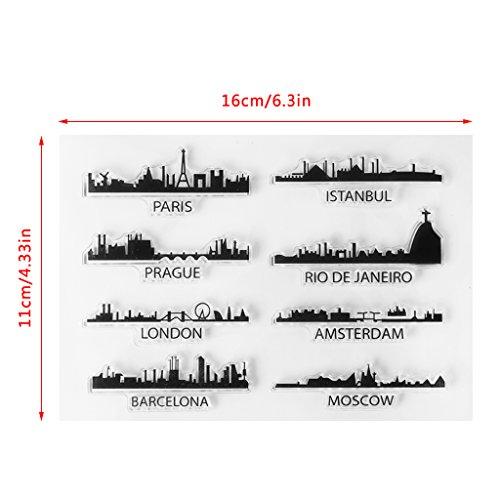 dt DIY Transparente Briefmarke, Silikon Stempel Set, Clear Stamps, Schneiden Schablonen, Bastelei Scrapbooking-Werkzeug ()