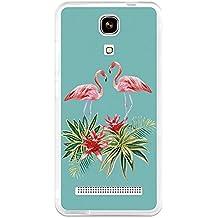 BeCool - Funda Gel Flexible Zopo Color E ZP350 Verano Flamingo Carcasa Case Silicona TPU Suave