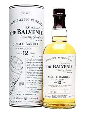 The Balvenie 12 Year Old Single Barrel First Fill Single Malt Scotch Whisky 70cl Bottle