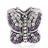 Charm-Anhänger Schmetterling mit australischen Kristallen für Pandora-Armband