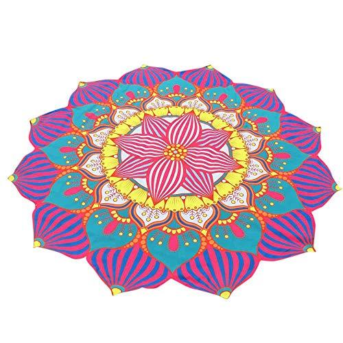 Firally asciugamano da spiaggia,telo mare stampato rotondo,tappeti di meditazione,dimensioni: 147 * 147 centimetri(blu)
