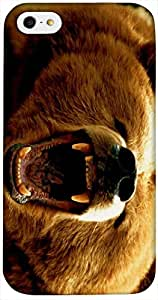 Timpax Protective Hard Back Case Cover With access to all controls and ports Printed Design : An angry bear.Compatible with Apple iPhone 4 / 4S
