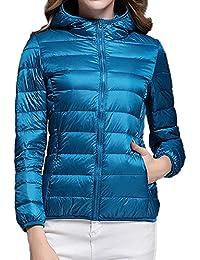 992e2218073dc MYMYU Women's Down Jacket - Manteau pour Les Voyages, la randonnée,  l'escalade, Le Ski, Les Sports d'hiver et Les…