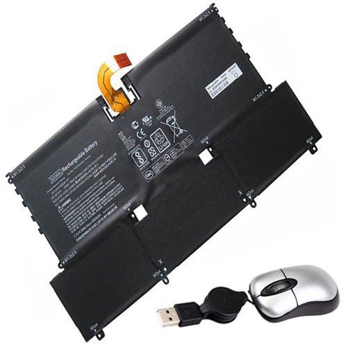 Amsahr SO04XL-05 - Batería de reemplazo para HP SO04XL, 843534-1C1, 844199-855, S004XL, TPN-C127, 13-V133NG (Incluye Mini ratón óptico) Color Gris