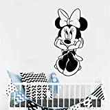 autocollant mural sticker mural Sticker Mickey Mouse Sticker Minnie Mouse Sticker Mignon Personnages de Bande Dessinée Vinyle Wall Sticker Enfants Bébé Fille Chambre