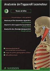 Anatomie de l'appareil locomoteur. CD-ROM 3, Tronc et tête